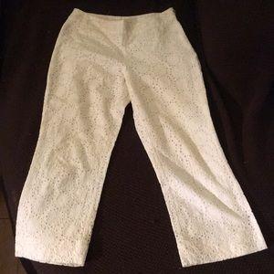 BEAUTIFUL BANANA REPUBLIC White Capris Pants Sz 4